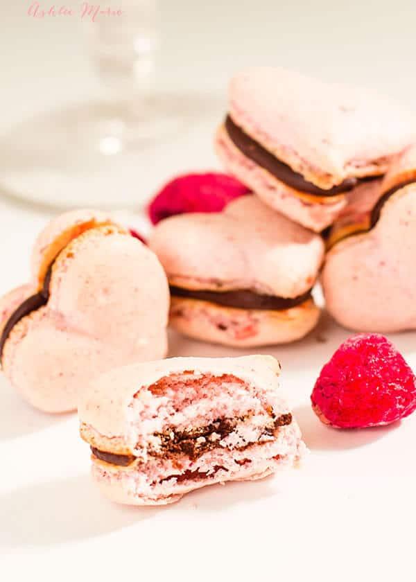 raspberry chocolate macaron recipe