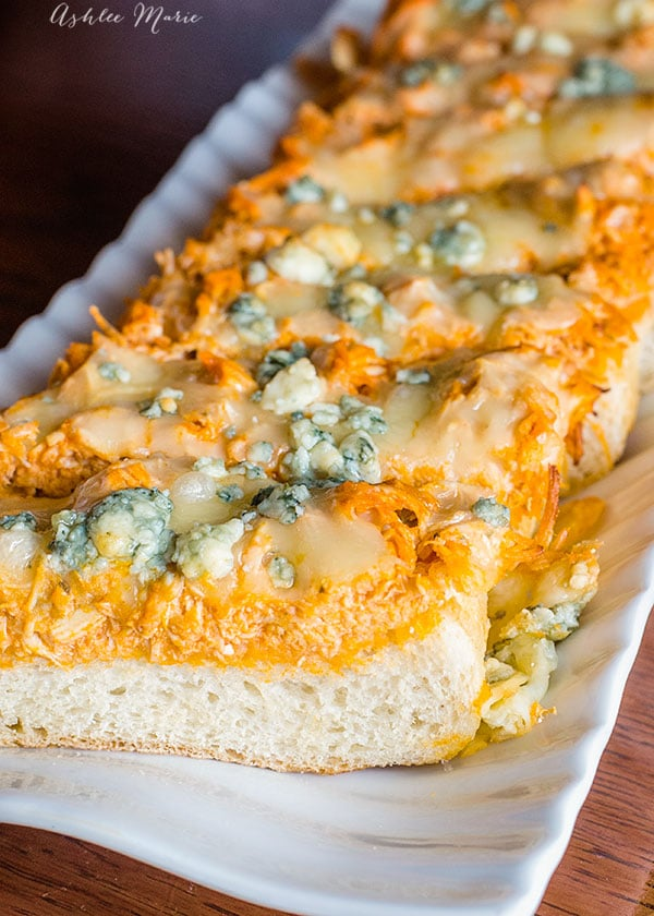 toasted buffalo chicken french bread loaf instant pot