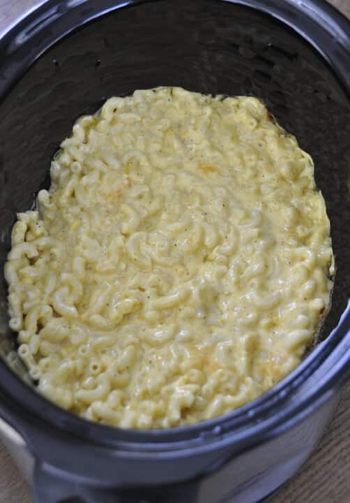 Slow Cooker Macaroni and Cheese {Wishes and Dishes}