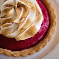 New Year's Eve raspberry curd tarts