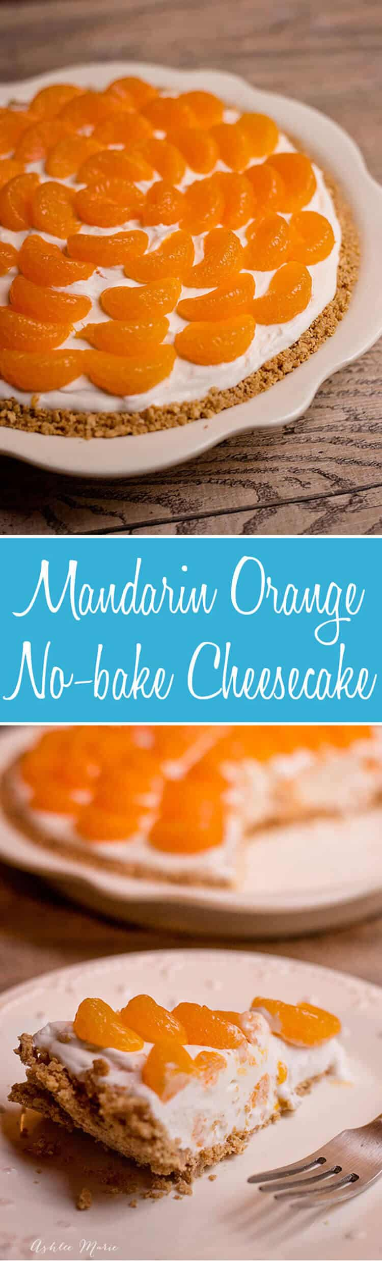 No bake cheesecake is easy to make and tastes amazing, adding mandarin oranges is a sweet addition that makes it even better