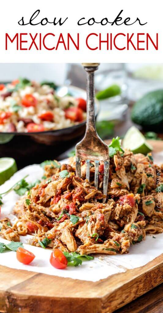 Slow Cooker Mexican Chicken {Carlsbad Cravings}