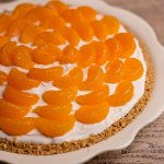 There are sweet mandarin oranges inside this no bake cheesecake as well as on top, it is a sweet treat that everyone loves