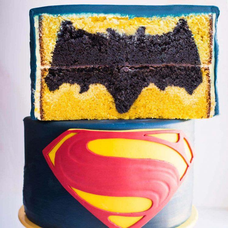 batman v superman cake tutorial