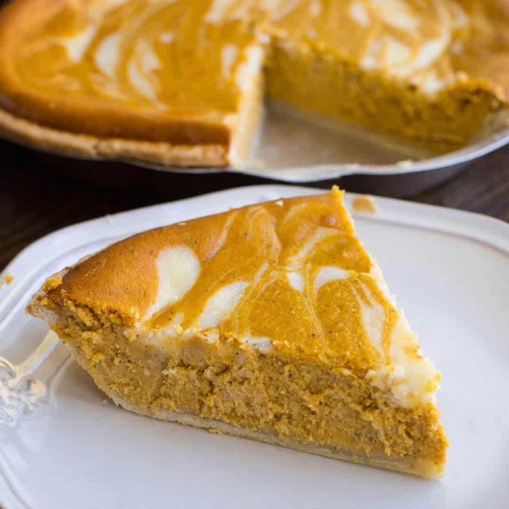 Cheesecake swirl Pumpkin Pie Recipe