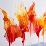make homemade cinnmon suckers look like flames to represent fire or anger at your party