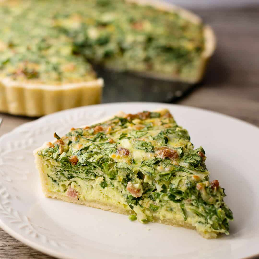 Bacon Spinach Artichoke Quiche Recipe With Video Ashlee Marie Real Fun With Real Food