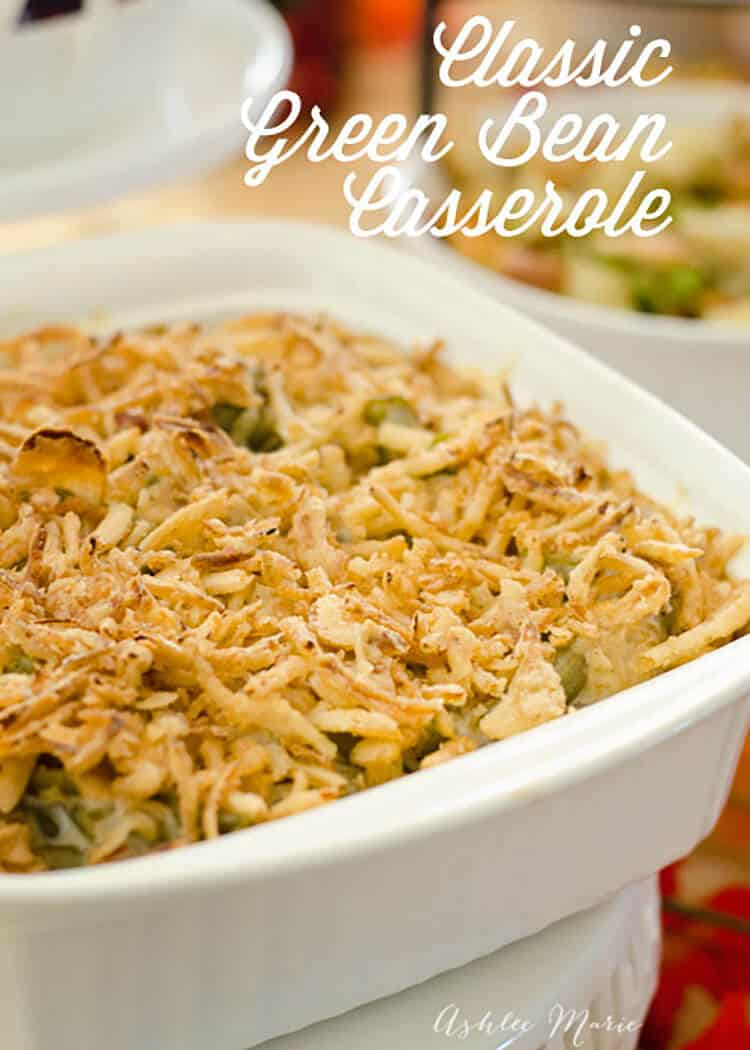 this is a classic green bean casserole with an extra bonus of bacon, doesn't get much better!