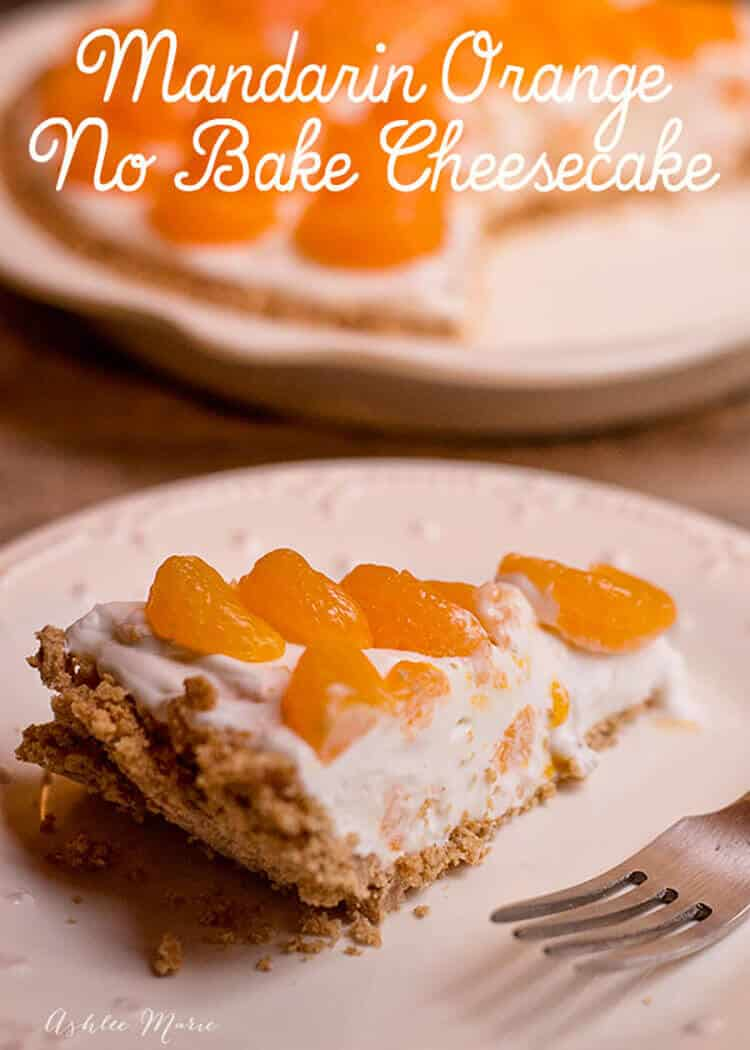 this recipe is easy to make and tastes amazing. An easy no bake cheesecake recipe filled and topped with mandarin oranges. It tastes amazing and everyone loves it