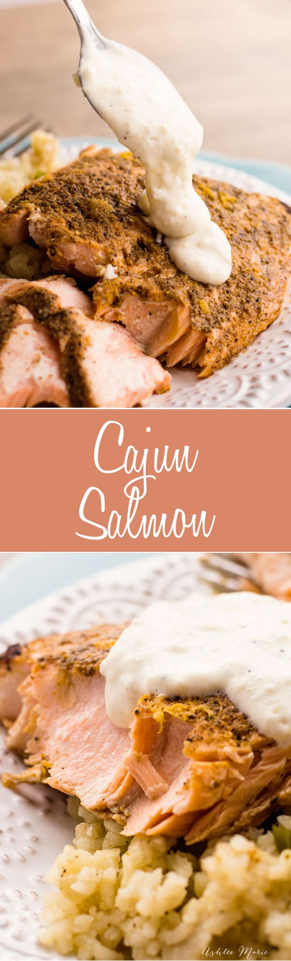 This Cajun Salmon is super spicy and full of flavor, served with a lemon aoili its the perfect balance for this delicious meal