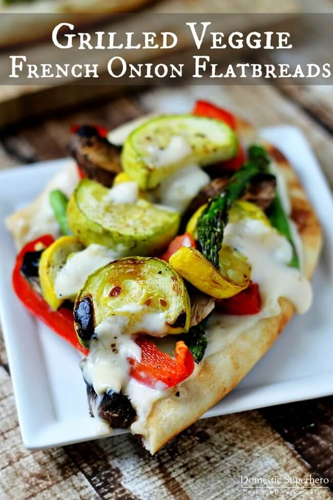 Grilled Veggie French Onion Flatbreads
