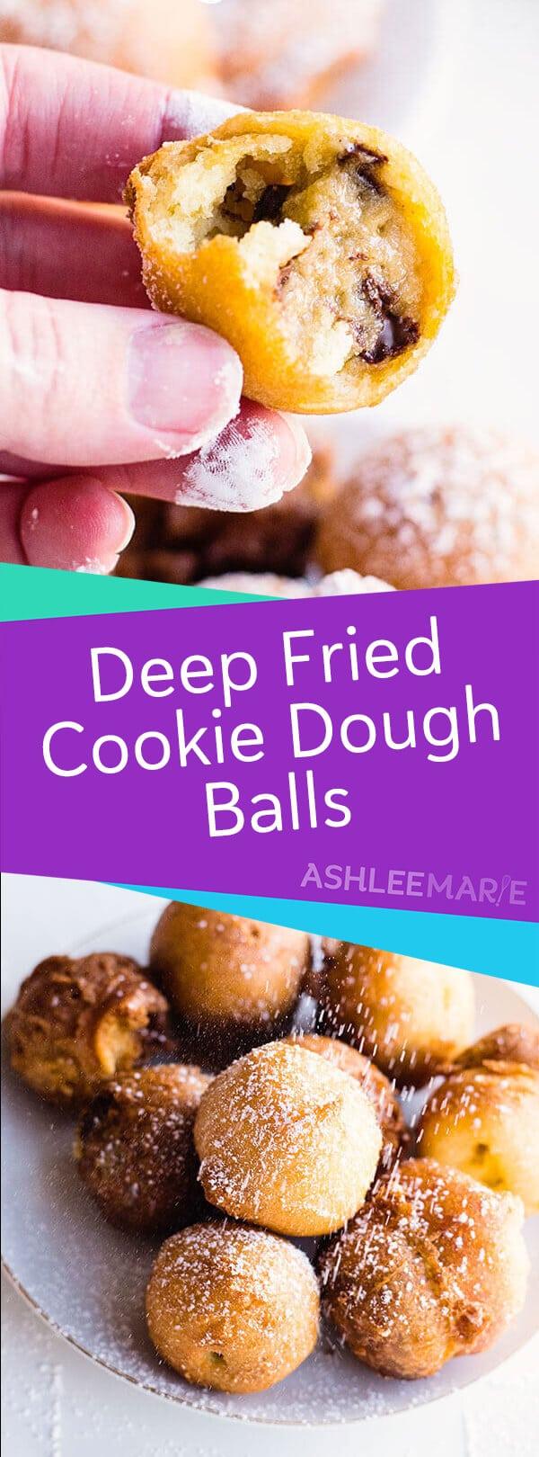 deep fried cookie dough balls