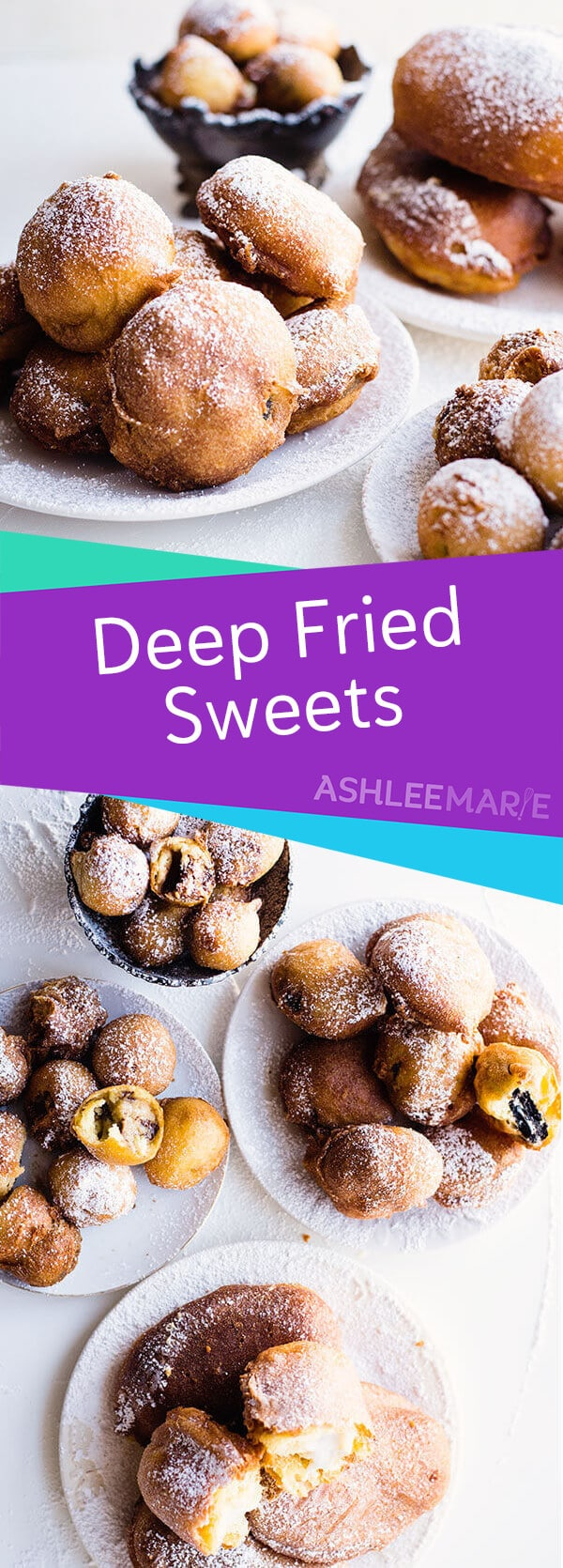 deep fried desserts - oreos, twinkies, snickers and cookie dough balls