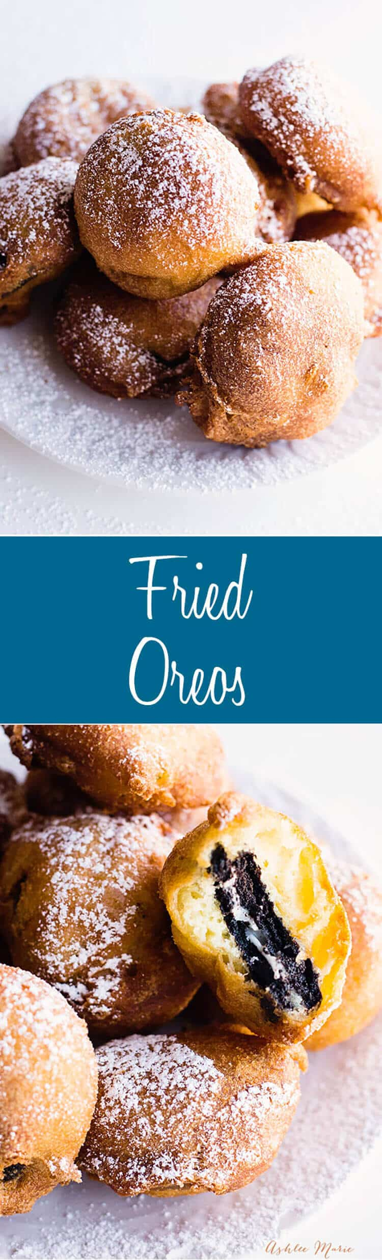 dip your favorite flavor of oreo into this sweet batter and fry it for an AMAZING treat - recipe and video tutorial