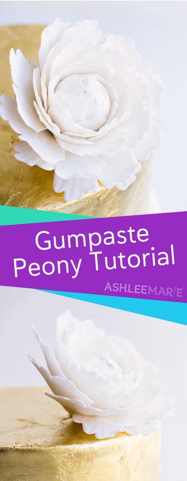 gumpaste peony video tutorial