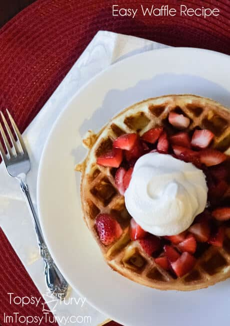 quick and easy with a great outside crunch these basic waffles are always a hit