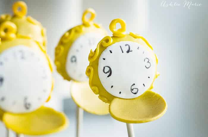 alice through the looking glass pocket watch cake pops