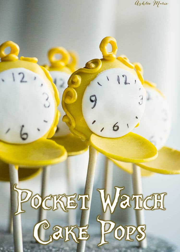 pocket watch cake pops - alice in wonderland