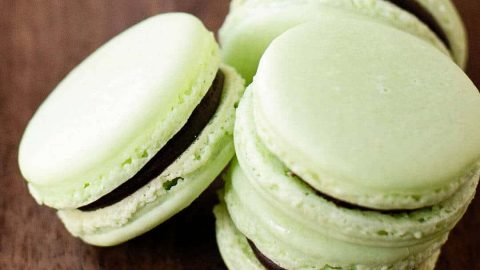 Chocolate Mint Macarons Ashlee Marie Real Fun With Real Food