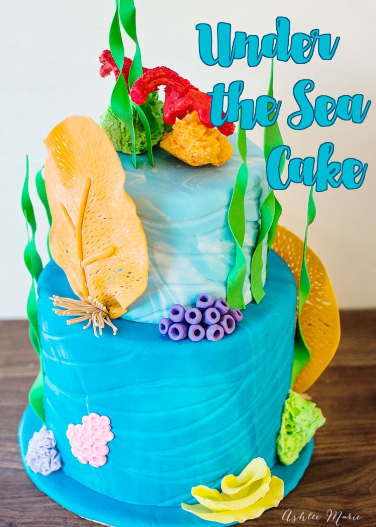 this under the sea cake has a video tutorial teaching how to recreate the various corals