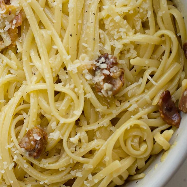 Bacon Linguine Carbonara