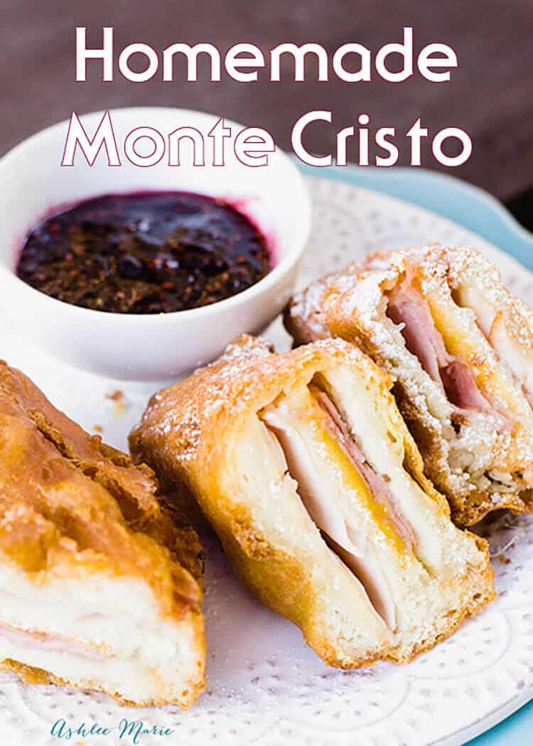 Homemade deep fried monte cristo sandwich ashlee marie for How much can you save building your own house