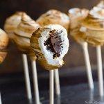 s'more truffle pops