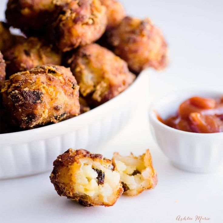 Bacon and Cheese Homemade Tater Tots