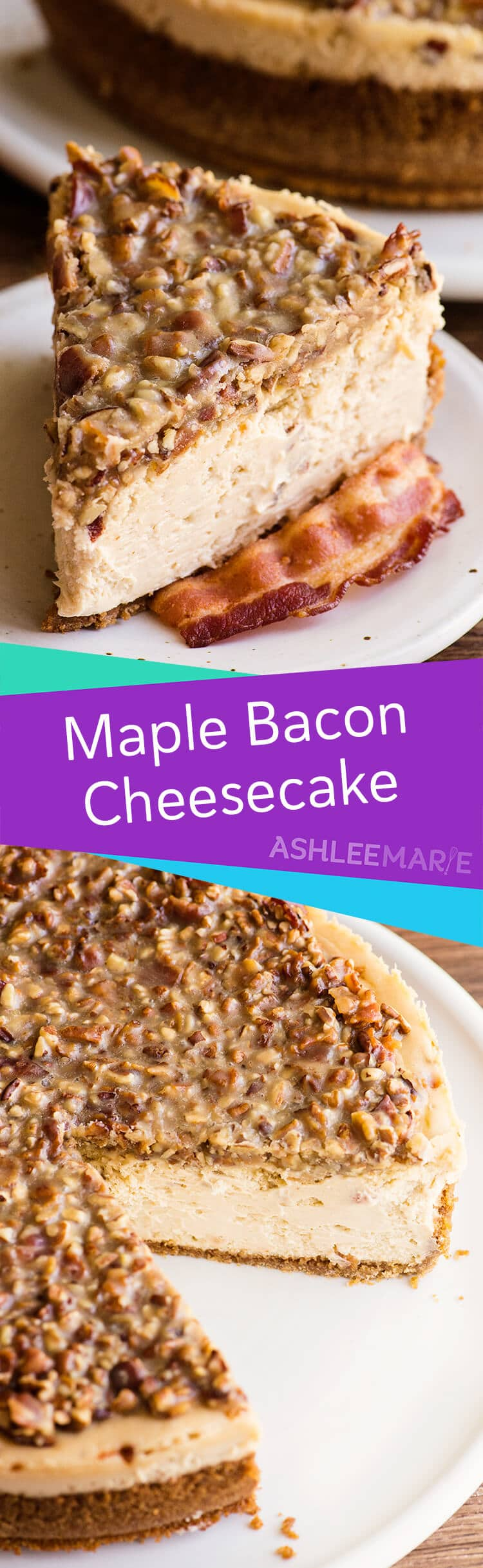 maple cheesecake with bacon