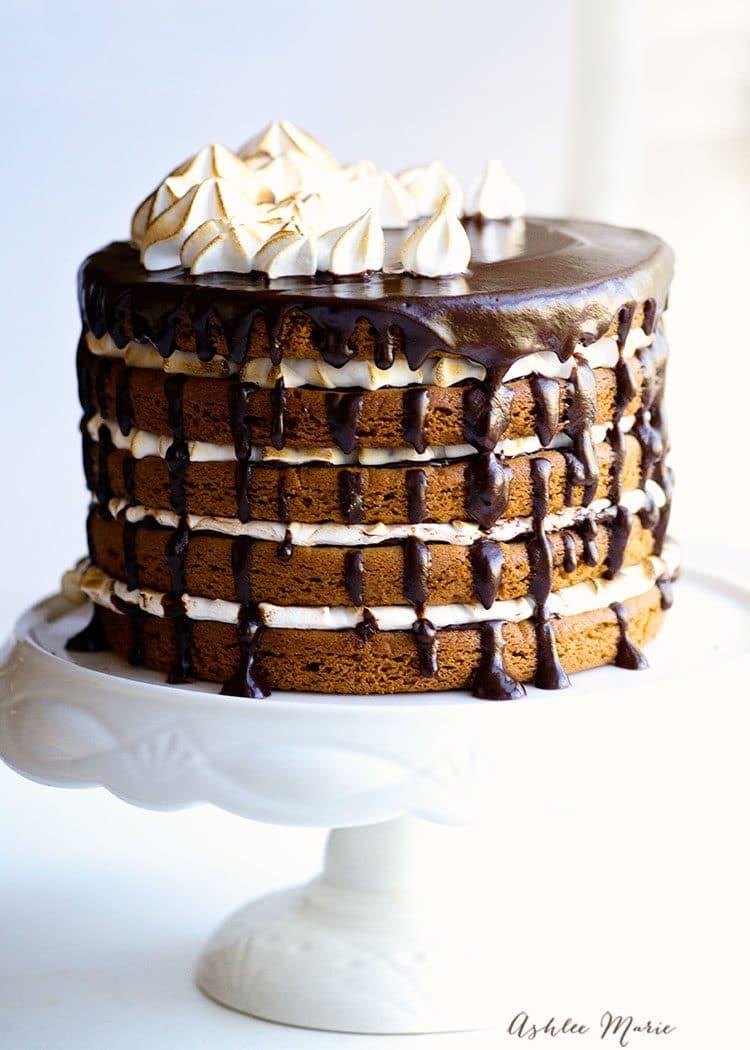 peanut butter smore cake