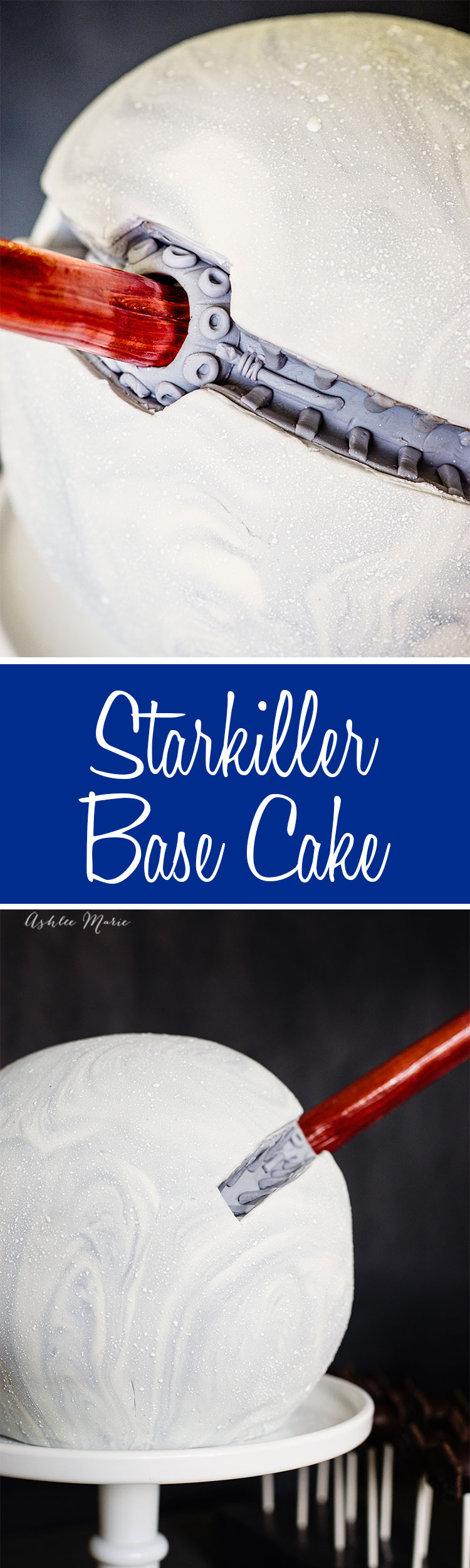 a full video tutorial for creating your own starkiller base cake - perfect for a star wars the force awakens birthday party
