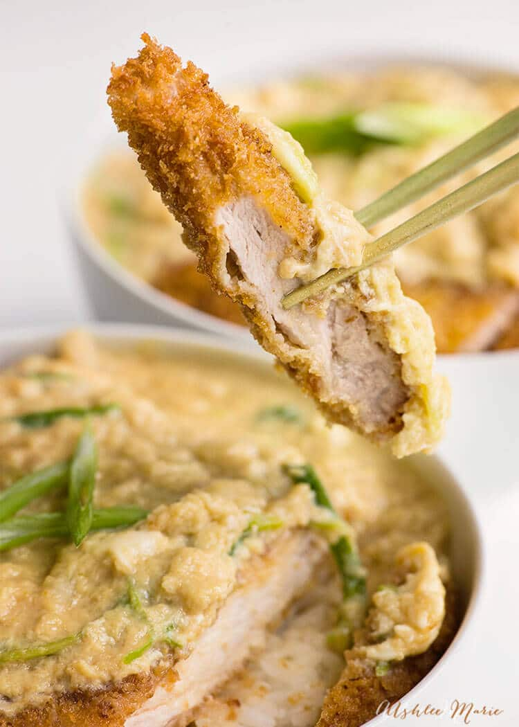 breaded pork cutlets with sweet egg topping