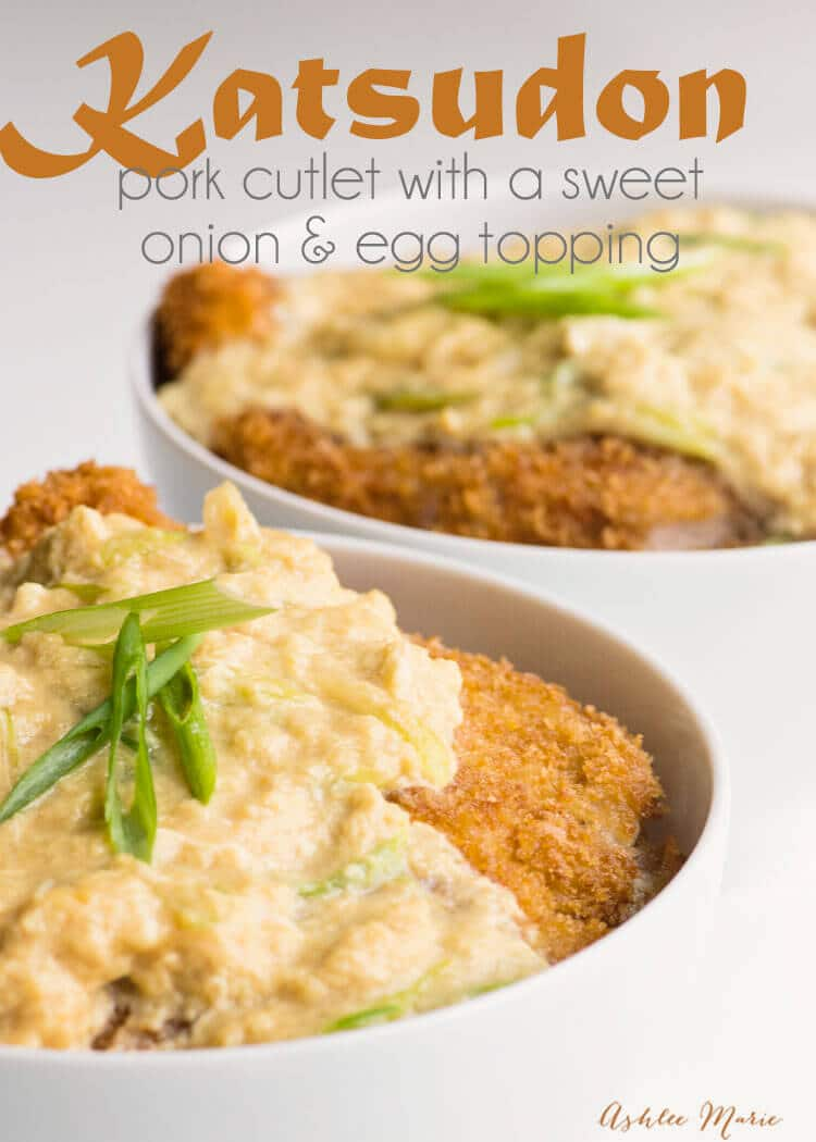 katsudon japanese breaded pork cutlets with sweet egg topping