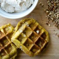 pumpkin liege waffles