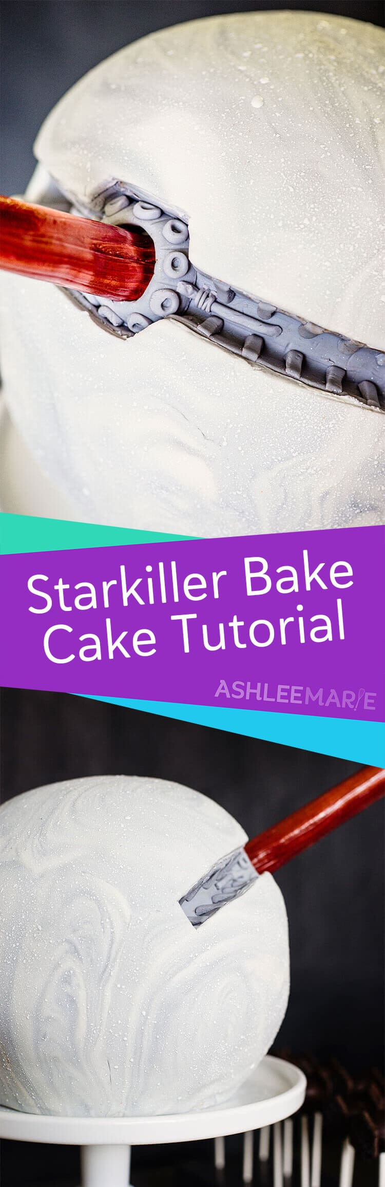 round starkiller base birthday party cake - video tutorial