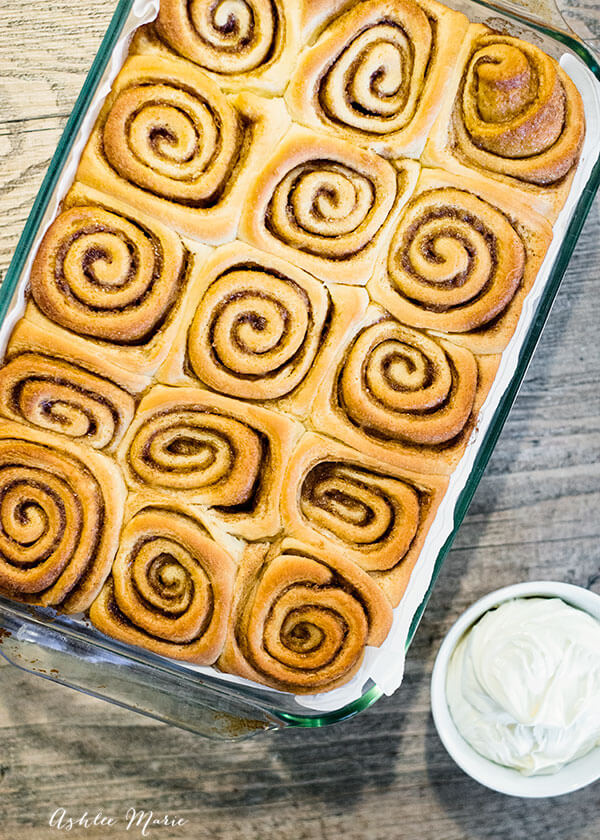 i love tight cinnamon swirls in my cinnamon rolls video tutorial with the recipe