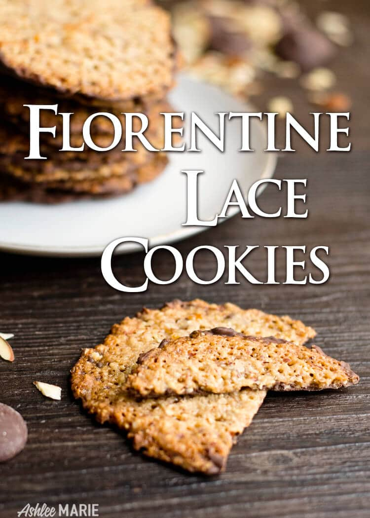 italian florentine almond lace cookie recipe