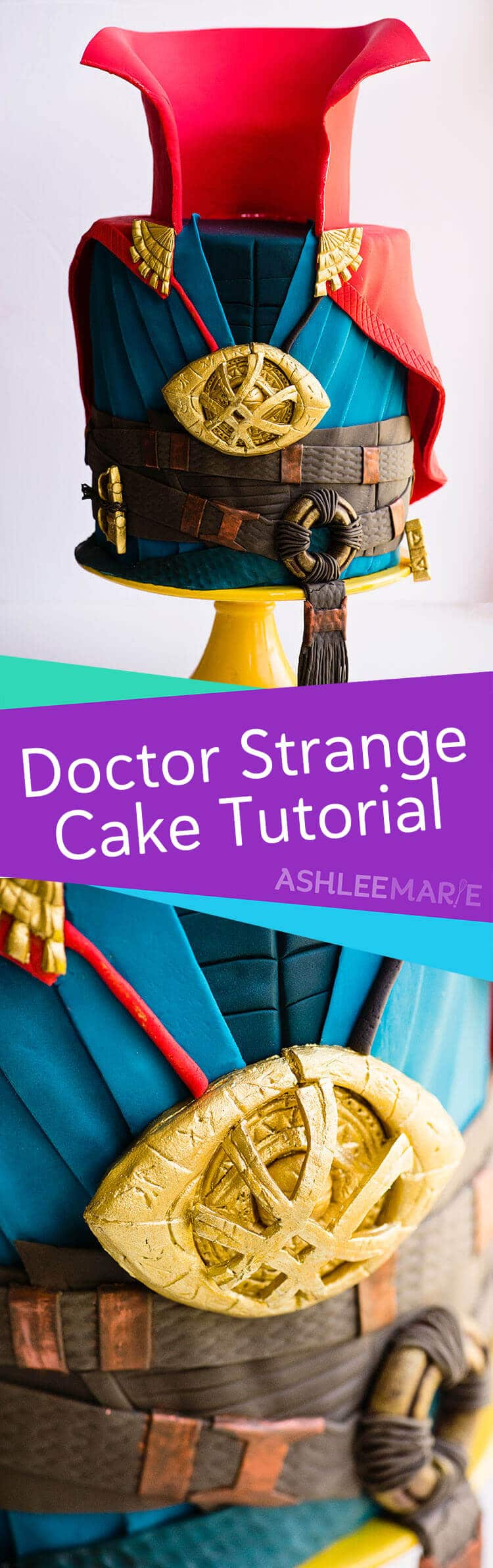 marvel doctor strange cake decorating video tutorial