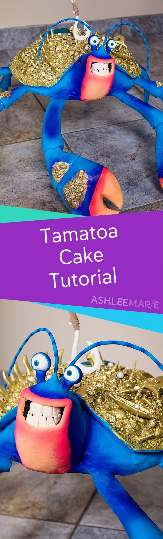 Moana S Tamatoa Gigantic Coconut Crab Cake Video Tutorial
