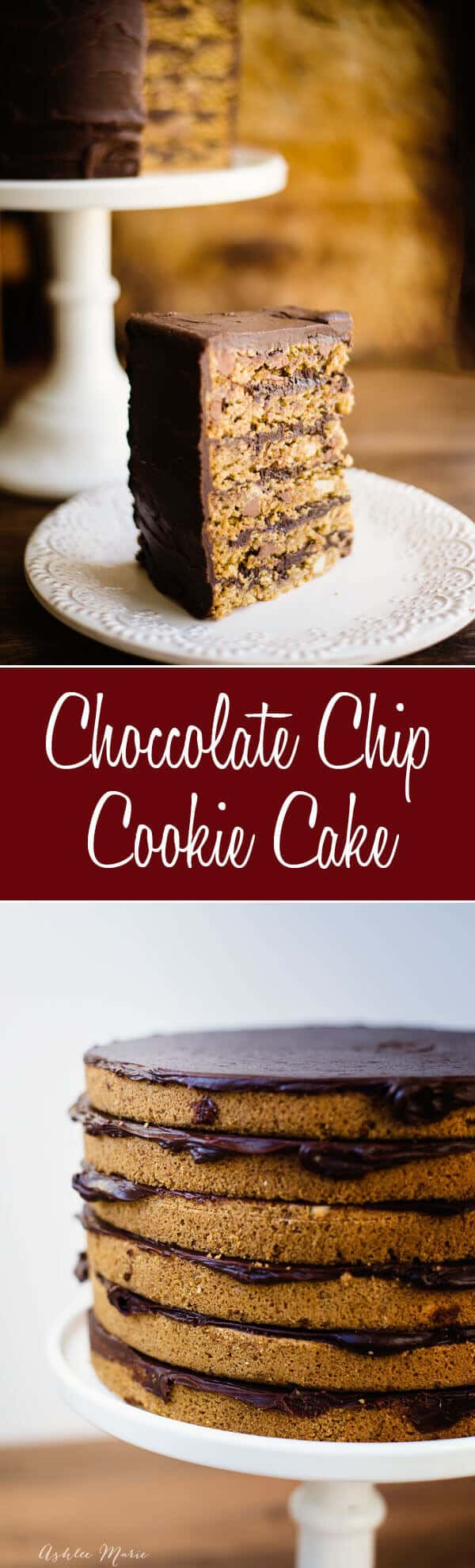 this chocolate and macadamia mut cookie cake is easy to make and oh so delicious frosted with a rich ganache it's always a huge hit