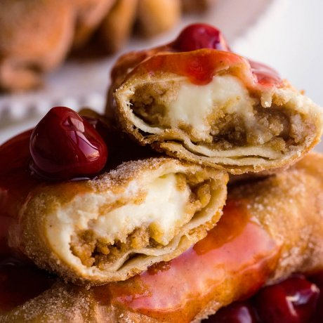 deep fried cheesecake chimichanga recipe and video