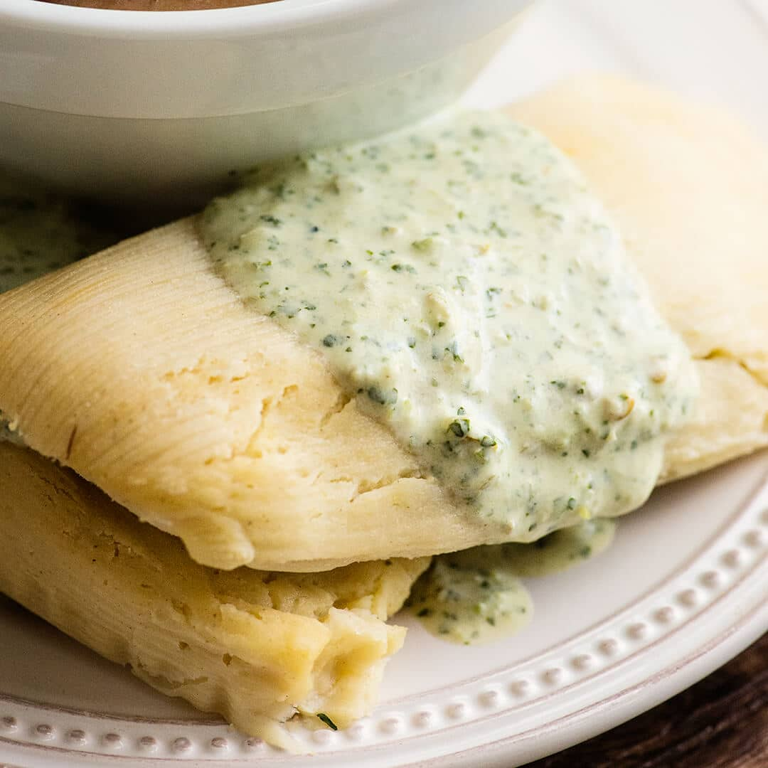 green chicken tamale recipe and video