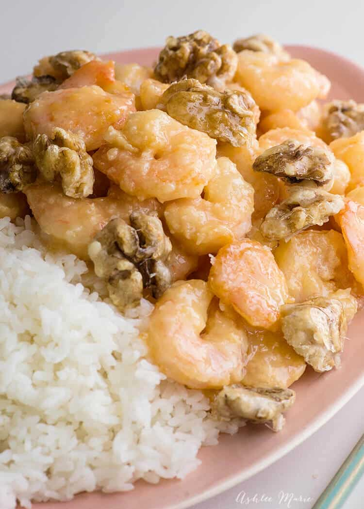 this creamy honey walnut shrimp recipe is easy to make and delicious