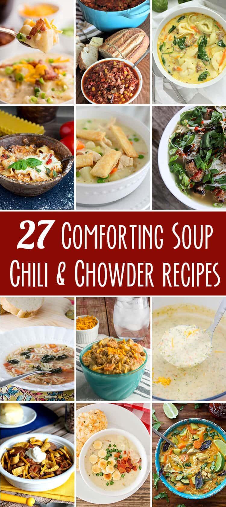 twenty seven soup chili chowder recipes collection