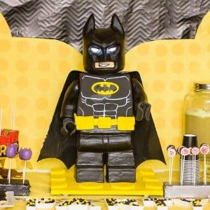 standing lego batman cake