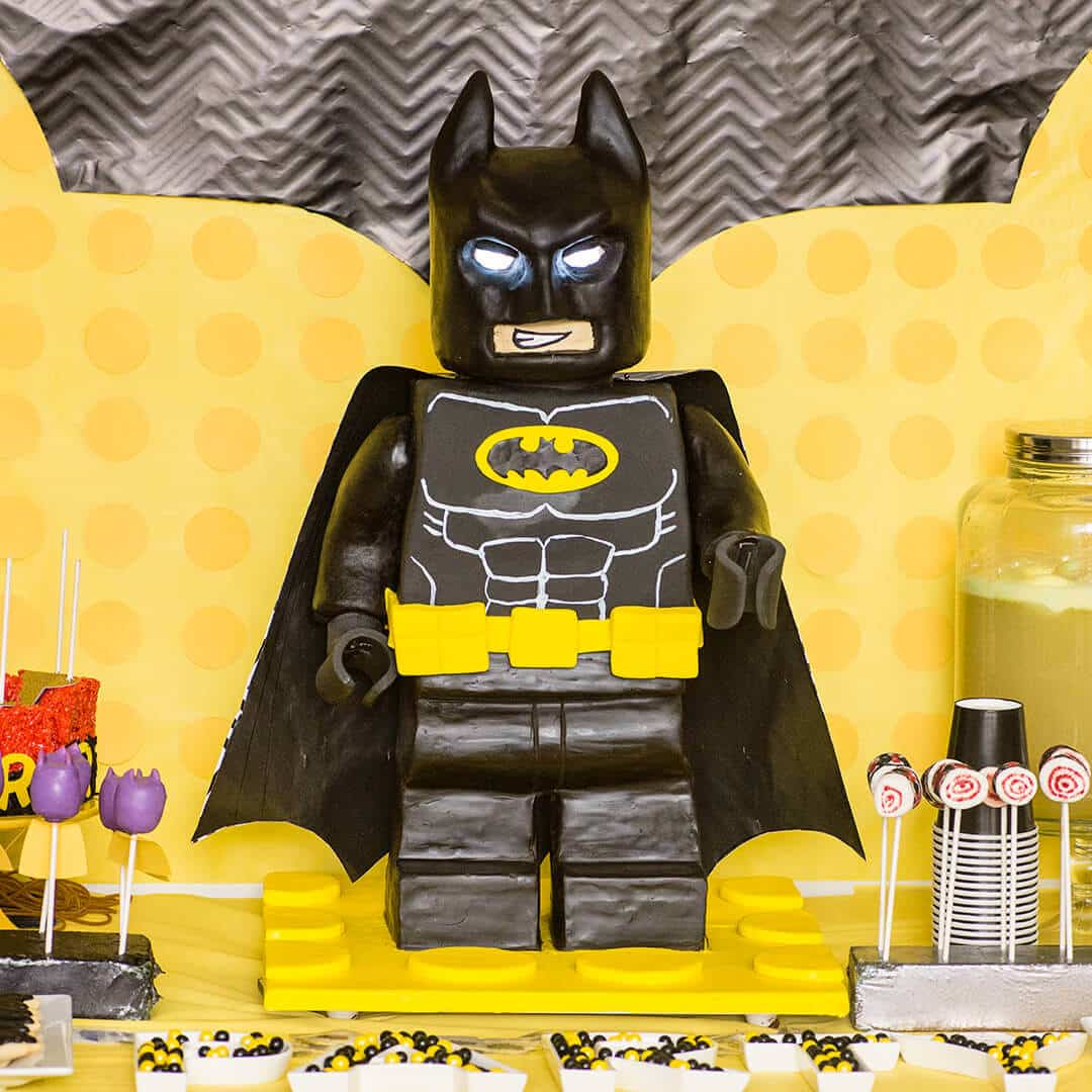 How To Make A Standing Lego Batman Cake Ashlee Marie