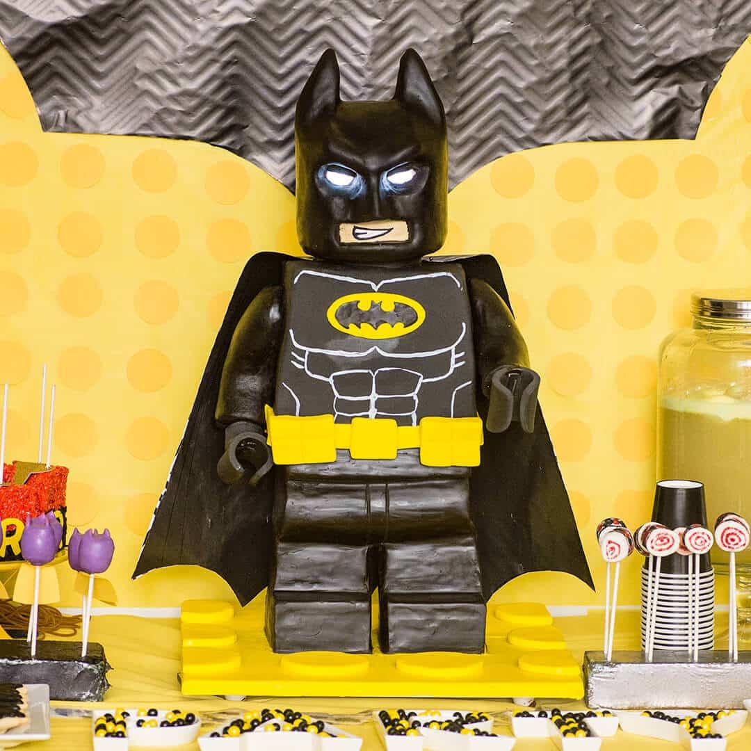 How To Make A Standing Lego Batman Cake Ashlee Marie