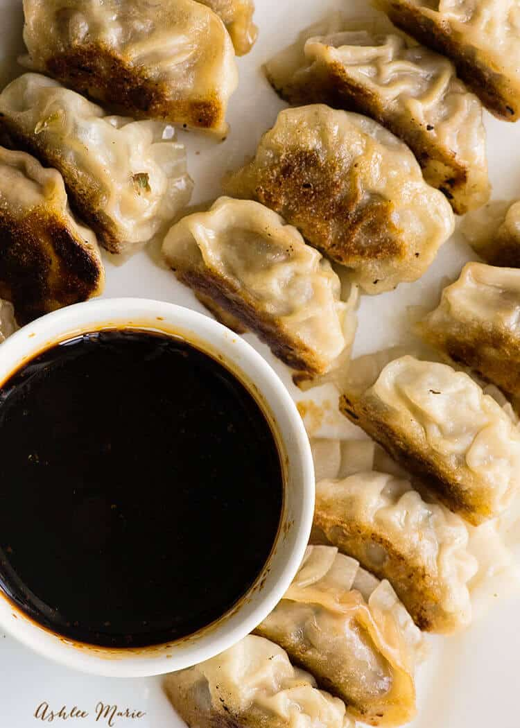 These Japanese dumplings, gyozas, are so easy to make at home