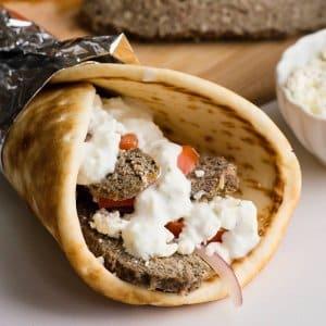 homemade greek lamb gyros