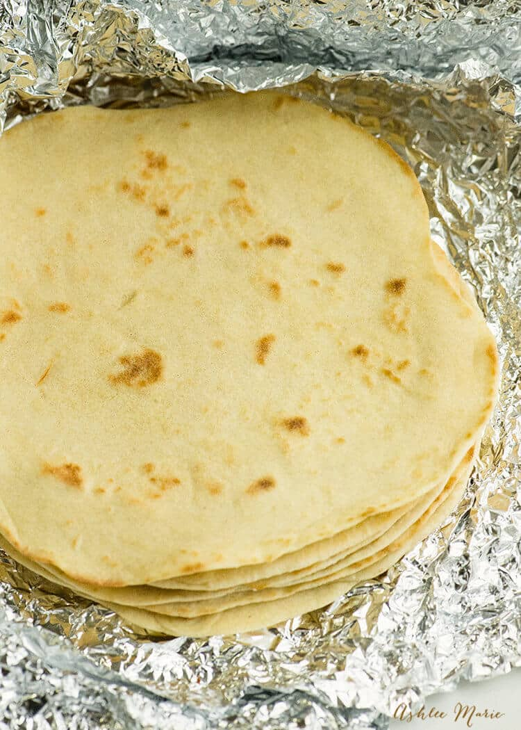 it is super easy to make homemade flour tortillas - recipe and video tutorial